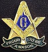 Proud to Be a Mason Lapel Pin