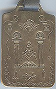 Masonic Symbols Brass Luggage Tag