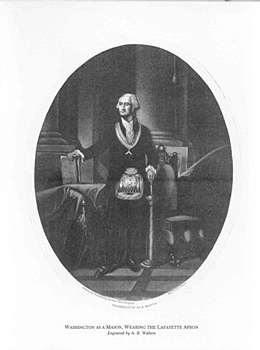 Washington as a Mason Print, Wearing the Lafayette Apron