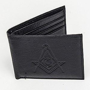 Leather Flipfold Wallet Black