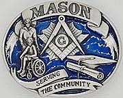 Mason Serving The Community Belt Buckle