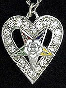 Eastern Star Heart necklace