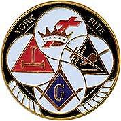York Rite Auto Emblem