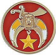 Shrine Auto Emblem, Red