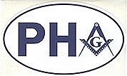 Prince Hall Auto Oval sticker