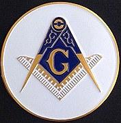 Smaller Blue Lodge Auto Emblem - 2 inch diameter