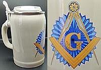 Masonic Beer Stein