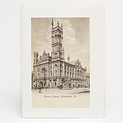Sepiatone Antique Image Blank Note Card