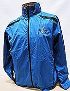 Blue/Black windbreaker Large