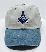 Khaki & Blue Ball Cap
