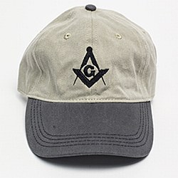 Khaki and Charcoal Denim Ball Cap