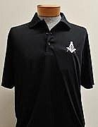 Golf Shirt Easy Care Black