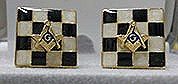 MasonicTiled Cuff Links in Goldtone