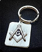 Rhodium Finish Key Ring