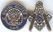 Masonic Navy Pin