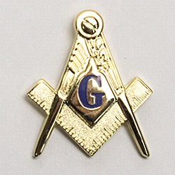 Large Sq & Compass Lapel Pin