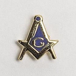 Small Square & Compass Lapel Pin