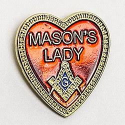 Mason's Lady Lapel Pin