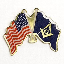 American Flag & Masonic Flag Lapel Pin