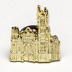 Masonic Temple Goldtone Lapel Pin
