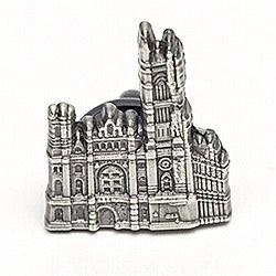 Masonic Temple Pewter-tone Lapel Pin