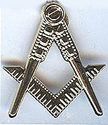 Square & Compass lapel pin