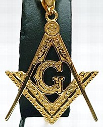 Masonic gold tone necklace