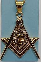 Zirconia Masonic Necklace