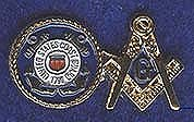 Coast Guard Masonic pin