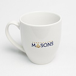 PA Masons White Ceramic Mug