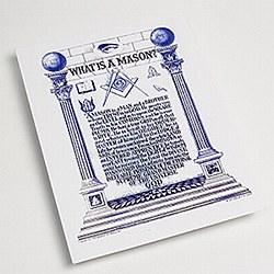 """""""What is a Mason?"""" 8 1/2 X 11 inch Print"""