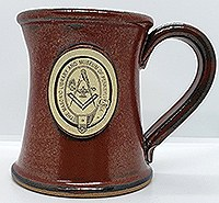 Stoneware Mug Tall:Sunfire Red