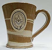 Stoneware mug brown swirl