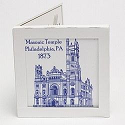 Masonic Temple Trivet Tile