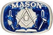 Masonic Symbols Belt Buckle