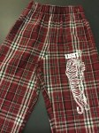 Flannel Pants maroon Small