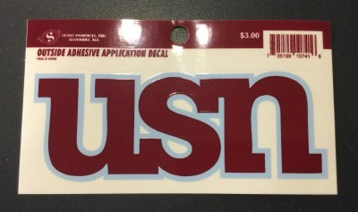 USN Decal small
