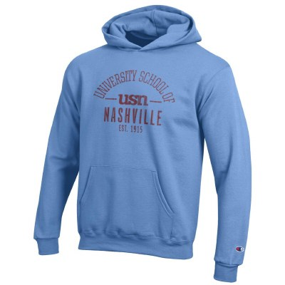 Youth blue hood Small