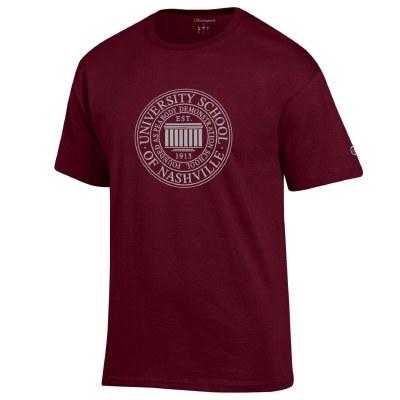 Youth Seal T-shirt maroon Smal