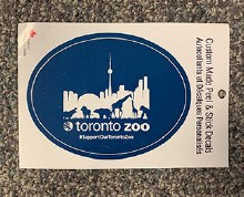 Support our Toronto Zoo Sticker