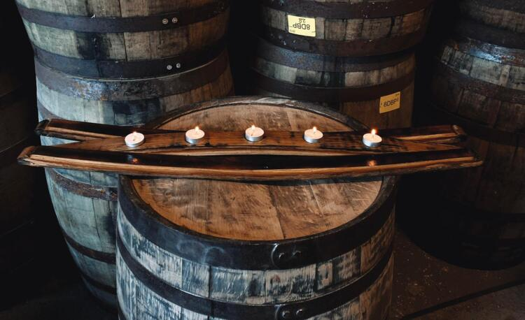 Handcrafted 3 Stave Candle Holder