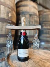 Handcrafted Wine Bottle and Glass Holder