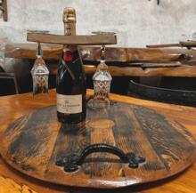 Handcrafted Barrel Top Tray