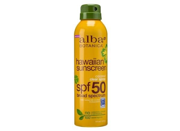 Alba Clear Spray Sunscreen SPF 50 6 oz