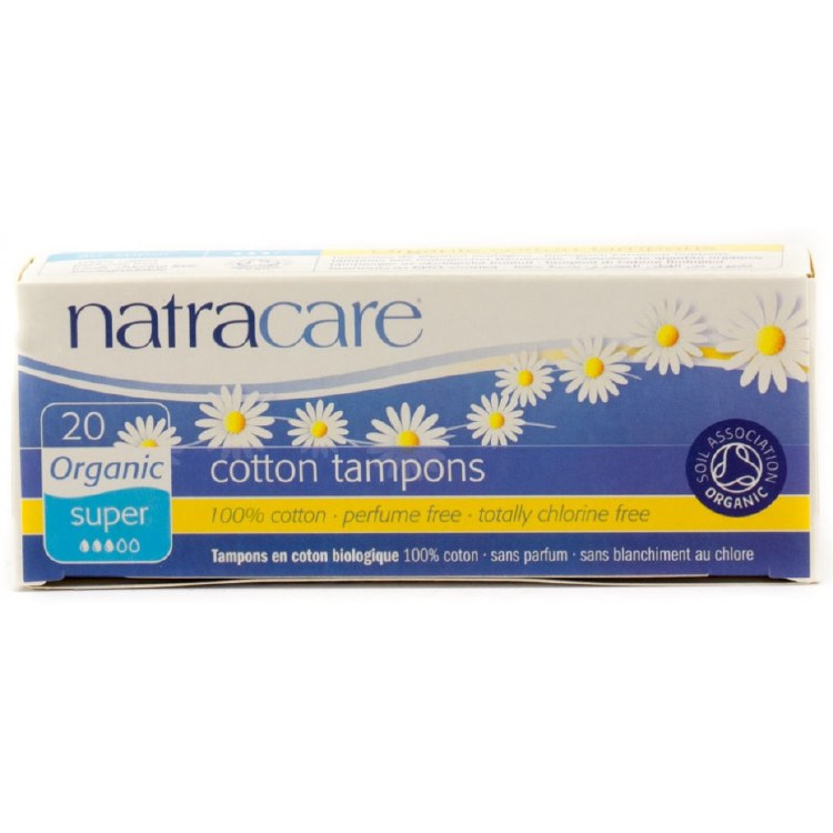 Super Organic cotton tampons, natracare 20
