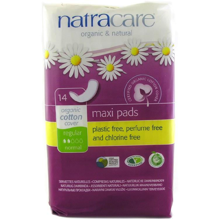 Regular Maxi Pads, Natracare 14