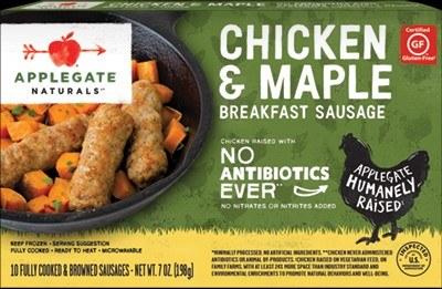Applegate Frozen Chicken Maple Sausages 7oz