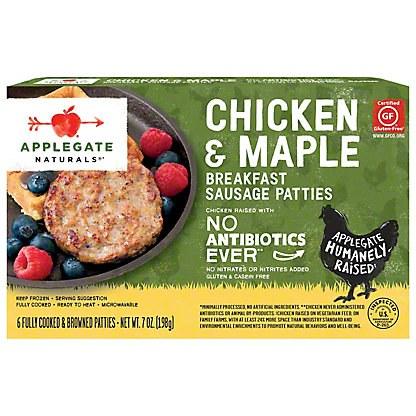 Applegate Chicken and Maple Breakfast Sauage Patties 7 oz