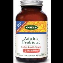 Flora Adult's Probiotic (6 Adult Specific Strains), 120 Caps.