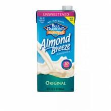 Blue Diamond Original Unsweetened Almond Breeze 32 oz